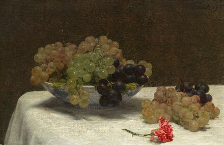 Still Life with Grapes and a Carnation
