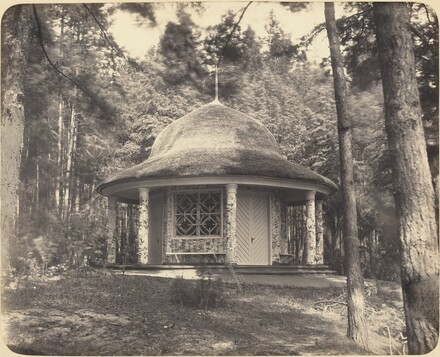 Gazebo in the Forest Near Moscow