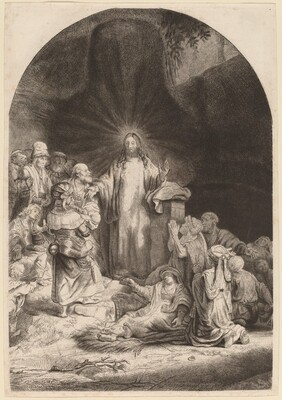 Christ Preaching and Healing (Fragment from the Hundred Guilder Print)