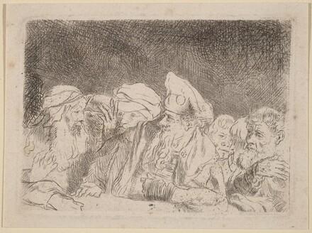 The Pharisees Debating (Fragment from the Hundred Guilder Print)