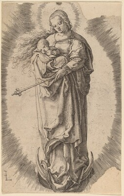 The Virgin and Child on the Crescent
