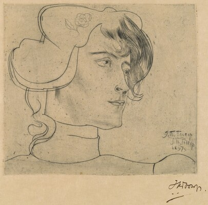 Head of a Woman (Marguérite Adolphine Helfrich)