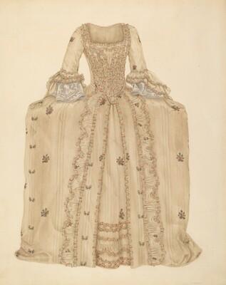 Brocaded Silk Dress