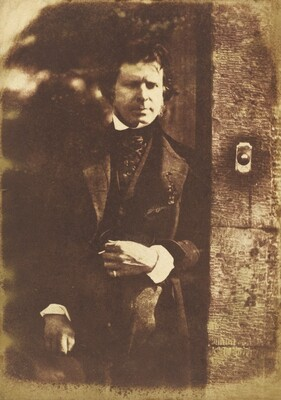 David Octavius Hill at the gate of Rock House, Edinburgh