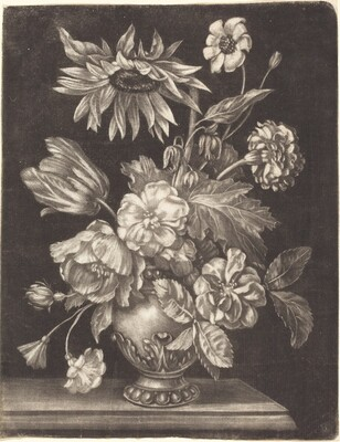 Floral Still Life with a Sunflower