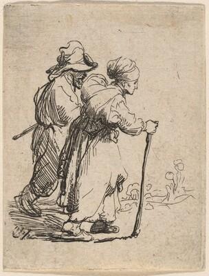 A Peasant Family Walking