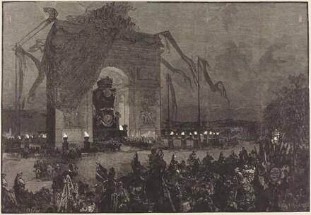 Funérailles de Victor Hugo.  La Veillée