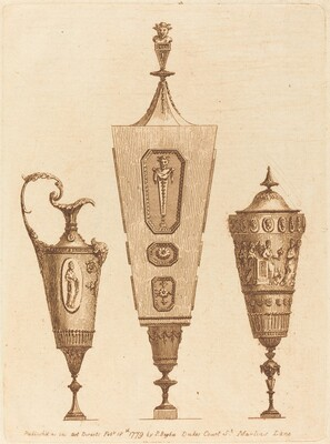 Two Classical Vases and an Ewer