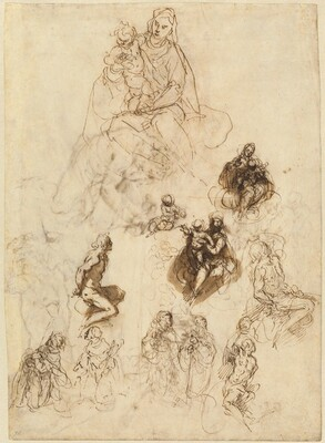 Studies of the Virgin and Child with Saints