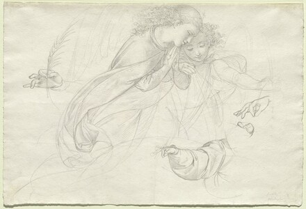 Two Grieving Angels (verso)