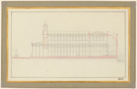 Longitudinal Section of a Cathedral for Berlin