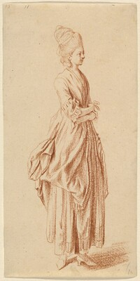 A Standing Lady in a Day Dress