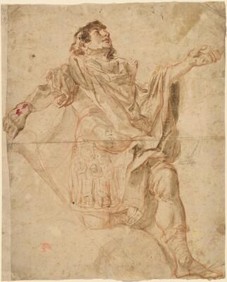 Saint George Kneeling (recto)
