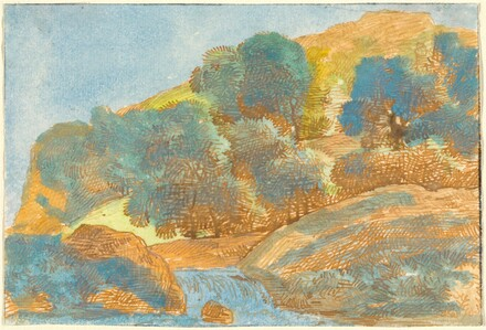 Hilly Landscape with a Stream