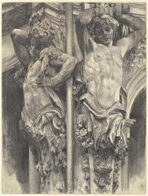 Atlases on the Wallpavillon of the Dresden Zwinger