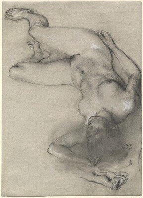 Nude Woman Lying on the Ground