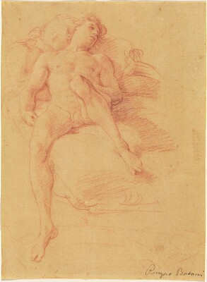 Male Nude Reclining on a Bed