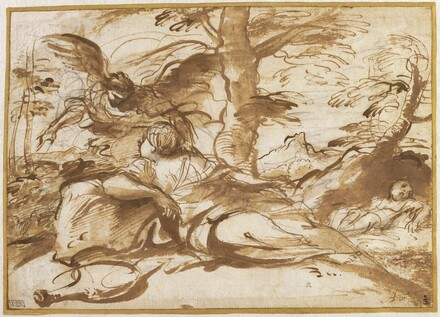 The Angel Appearing to Hagar in the Desert (recto)