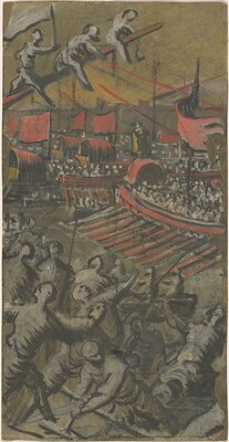 Venetian Ships Attacking Constantinople
