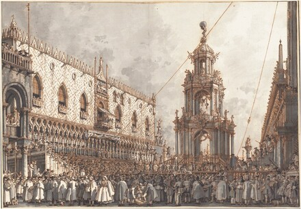 The Giovedì Grasso Festival before the Ducal Palace in Venice