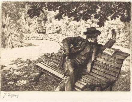 Denoisel Reading in the Garden