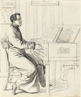 The Artist's Brother-in-Law, Ludwig Hassenpflug, Preparing to Play the Piano