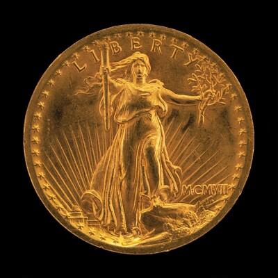 Double Eagle Twenty Dollar Gold Piece [obverse]