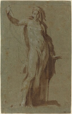 Standing Woman Holding a Scroll