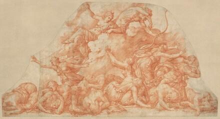 Diana and Apollo Slaughtering  the Children of Niobe