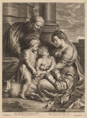 The Virgin and Child with Saint  Anne and Saint John