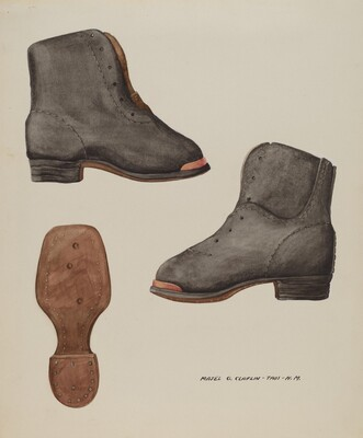 Copper-toed Child's Shoe