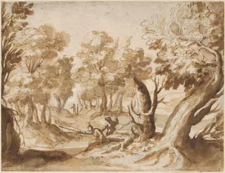 Two Figures Fishing in a Landscape