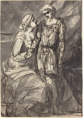 Two Figures in Classical Dress