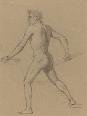 A Male Nude Moving to the Left
