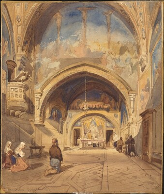 Interior of the Church of San Benedetto, Subiaco