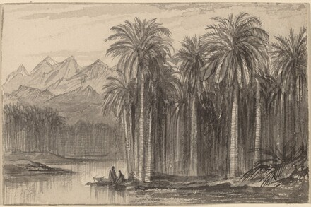 Figures Setting Out in Canoes from a Palm Grove (Wady Feiran)