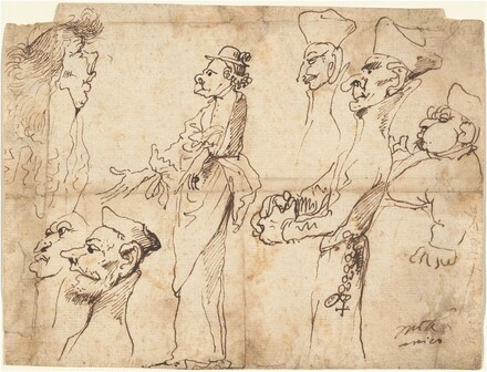Caricatures of Clerics and Priests