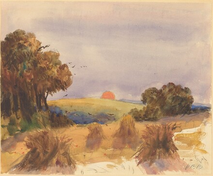 A Cornfield at Sunset