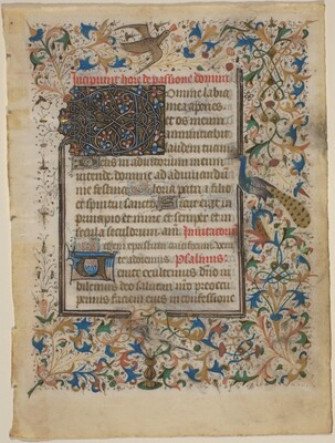 Manuscript Leaf from a Book of Hours (incip. Passionis)