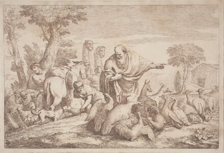 Noah Leading the Animals to the Ark