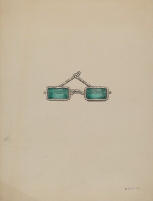 Spectacles with Green Lenses