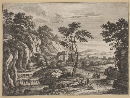 Landscape with Ruins and a Waterfall