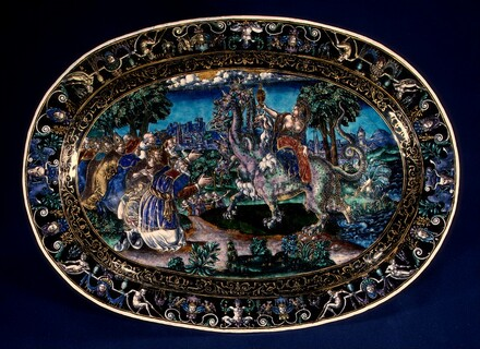 Oval Dish with the Whore of Babylon