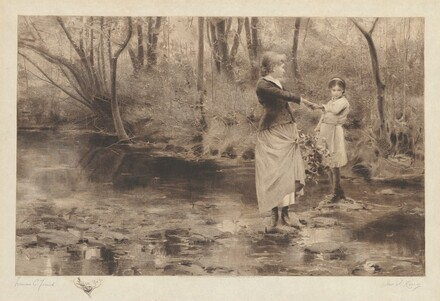 Untitled (Crossing A Brook In The Woods)