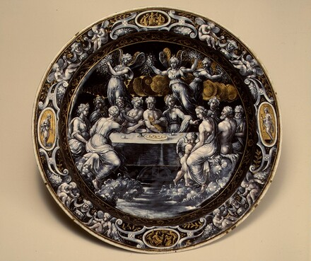 Round Dish with the Wedding Feast of Cupid and Psyche