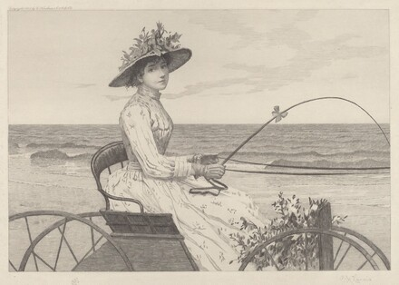 Untitled (Woman in a Carriage)