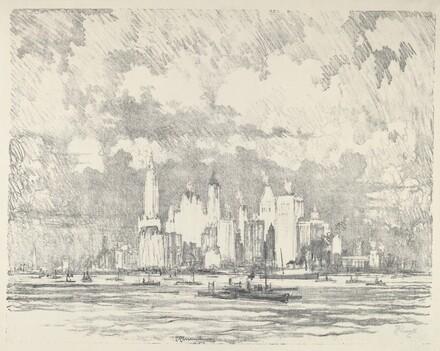 New York From Ellis Island