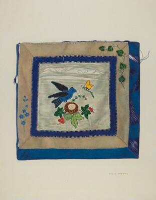 Coverlet (Detail of Bluebird)