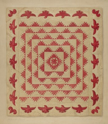 Patchwork Quilt with Eagles