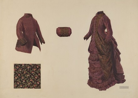 Gown, Coat, and Muff